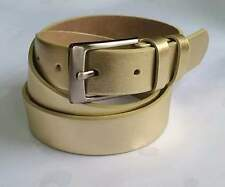 Ledergürtel,Gürtel Silber oder Gold Vollrindleder NEU! 3 cm. breit <Trend>