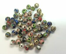100 New 8mm Mix Handmade Cloisonne Beads