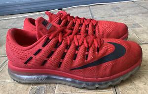 Nike Air Max 2016 University Red Black Running Shoes 806771-601 Men Size 11.5