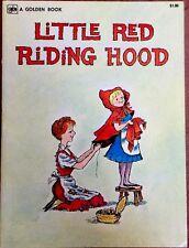 LITTLE RED RIDING HOOD ~ Mabel Watts ~ Vintage Children's Oversized Golden Book