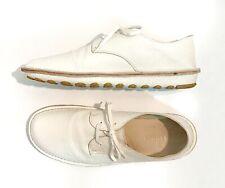Jil Sander Mens White Soft Leather Rubber Sole Shoes Size 11.5 US