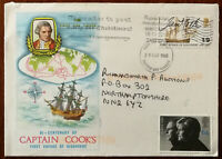 Bi-Centenary of Captain Cook's First Voyage of Discovery FDC 29 May 1968