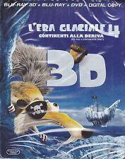 Blu-ray 3D + Blu-ray 2D + Dvd «L'ERA GLACIALE 4 ♥ CONTINENTI ALLA DERIVA» 2012