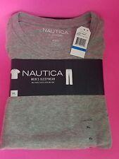 New NAUTICA Size XL - BLACK/GRAY mens 2pc Shirt Pants LOGO Pajama Sleepwear Set