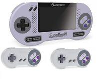 SUPABOY S Portable Pocket Handhel SNES Console w TV Output +2x Controller BUNDLE