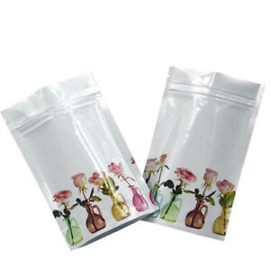 Printed Aluminum Foil Mylar Stand Up Zip Bags Lock Food Grade Packaging Pouches