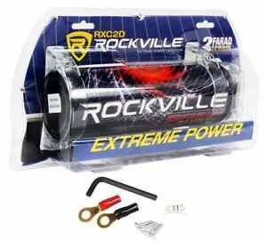 Rockville RXC2D 2 Farad Stiffening Power Capacitor with LED Digital Volt Meter