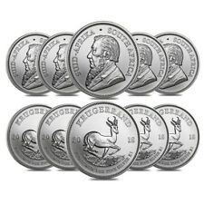 Lot of 10 - 2018 South Africa 1 oz Silver Krugerrand BU