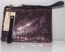 ACCESSORIZE - ANGELINA SPARKLE LEATHER ZIPTOP CLUTCH BAG(Black) BNWT