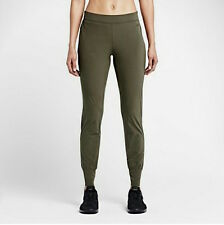 NIKE Girls Woven Bliss Skinny Fit Training Pants 642536 Olive Green Women's  XL