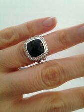 Pre Owned DAVID YURMAN ALBION 11MM Onyx  DIAMOND RING  SIZE 6