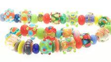 OliveStuart Handmade Lampwork Beads 40 mini bright round/cube