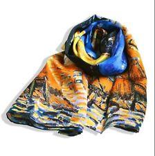 Moderne femme écharpe 100% hq soie châle wrap art imprimé peinture van GOGH luxe cadeau
