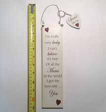 Lucky Mums Wall Plaque & Key Ring Stocking Filler Christmas Gift Ideas for her