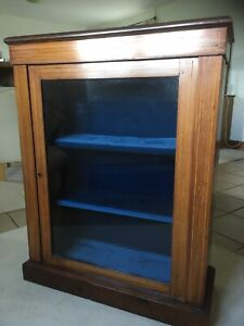 An Attractive Walnut And Inlaid Victorian Display Cabinet