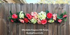 "35"" Coral Swag Centerpieces Silk Wedding Flowers Chuppah Gazebo Arch Artificial"