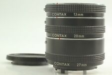 【MINT】 Contax Genuine 13mm 20mm 27mm Extension Tube Set For C/Y Mount FROM JAPAN