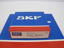 1 Stück SKF Rillenkugellager 6305 NR/C3 25x62x17 mm mit Nut und Sprengring