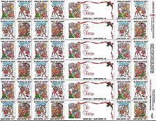 1988 UNITED STATES CHRISTMAS SEALS STAMPS FULL SHEET MINT American Lung
