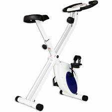 Body Rider Deluxe Folding Bike Exersise Bike White & Blue Xrb271 New!