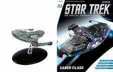 #56 Star Trek Saber Class  Die Cast Metal Ship-UK/Eaglemoss w Mag-FREE S&H