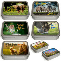 Personalised Animal Tobacco Tin 2oz Baccy Fathers day Cigarette Birthday Gift