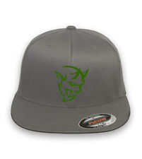 Dodge Challenger Demon  Flex Fit HAT CURVED or FLAT BILL *FREE SHIPPING in BOX*