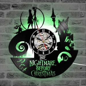 Nightmare Before Christmas Decor Jack Skellington and Sally clock Tim Burton