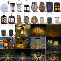 LED Solaire Tenture Lanterne Imperméable Extérieur Décor Lampe Jardin Suspendu