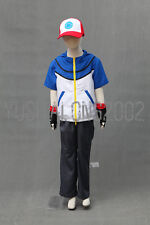 POKEMON Ash Ketchum Cosplay costume Kostüm hat hut cloth handschuh Outfit go 4