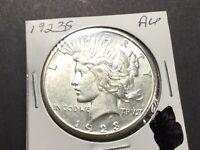 1923-S Peace Dollar San Francisco AU+ 90% Silver U.S. 1-Coin-032221-0075