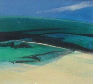 Neil Canning - Original Gouache Painting - South Downs.