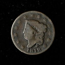 1818 1C Coronet Head Large Cent Circulated United States Type Coin