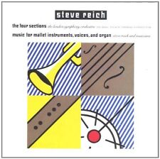 STEVE REICH - Four Sections, Music for Mallet Instruments - CD 1990 NEAR MINT