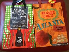 The SOUTH - Trader Joe's reusable Shopping grocery Tote ECO bags NWT SALE