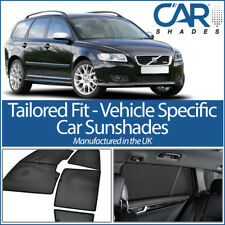 Volvo V50 Estate 03-12 UV CAR SHADES WINDOW SUN BLINDS PRIVACY GLASS TINT BLACK