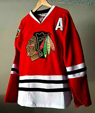 Duncan Keith #2 CHICAGO BLACKHAWKS Red Home Jersey - Size LARGE