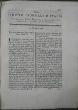 1789 RIVISTA NUOVO GIORNALE D'ITALIA: ALBERI IN VALPOLICELLA E SCAVO AD AQUILEIA