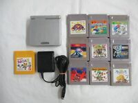 L611 Nintendo Gameboy Advance SP console Platinum Silver game Adapter Japan GBA