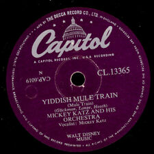 Mickey Katz & his Orch. yiddish Mule Train/There's a Hole... - Parody-s8084