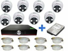 KIT VIDEOSORVEGLIANZA AHD 8C +DOME CAM 1500TVL+HD 500GB