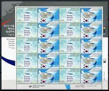 Korea Süd 2012 Nukleare Sicherheit Taube Dove Atomkraft 2869-2870 Kleinbogen MNH
