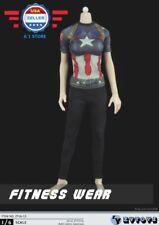 ZY toys 1/6 Captain America Graphic T Shirt Leggings Set for 12'' FEMALE Figure