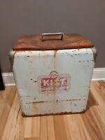 Rare KIST Beverages Soda Pop Cooler Advertising 20x18x12 Vintage Antique Steel
