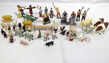 Lot 55 Lead Toy Farm Figures BF Britains Ltd Sheep Cows Scarecrow France England