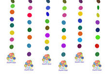 Happy Eid Flower Party Hanging Islamic Muslim Holiday Decoration (6 Pack)