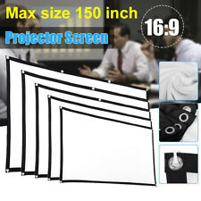 "60~150"" Foldable Projector Screen 16:9 HD Home Cinema Theater Movie Outdoor Camp"