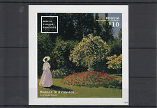 Bequia Grenadines St Vincent 2014 MNH World Famous Paintings 1v Imperf S/S Monet
