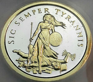 2014 SILVER SHIELD FREEDOM GIRL SILVER ROUND ICG PR GENUINE GOLD GILDED TONING