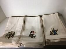 Pottery Barn 12 Days of Christmas Cotton Napkins Set of 12